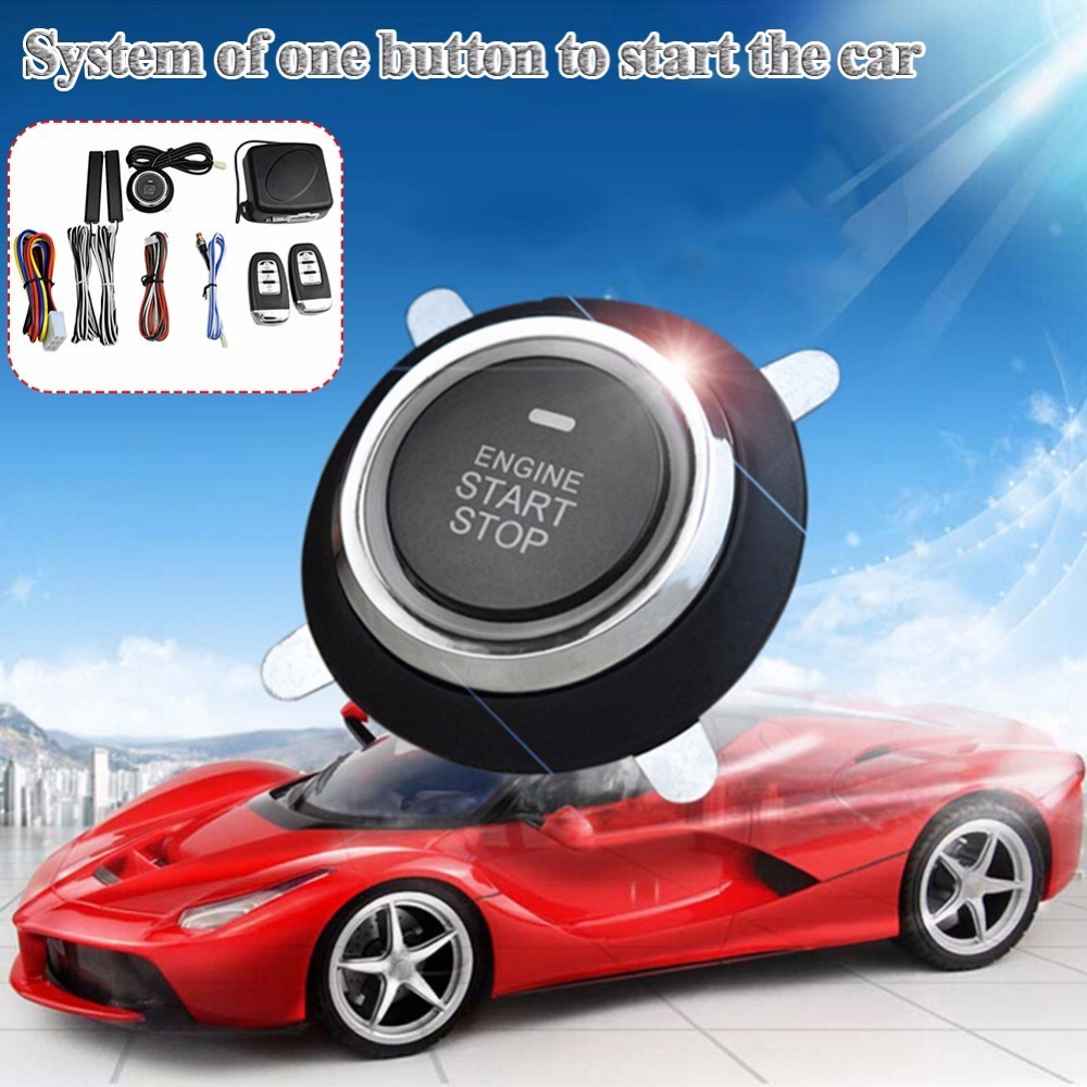 11 11 Hot Sale 9Pcs Car SUV Keyless Entry Engine Start Alarm System Push Button Remote Starter Stop Auto in Burglar Alarm from Automobiles Motorcycles