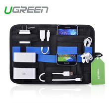 Ugreen Newest Digital Device Organizer Travel Storage Bag For iPhone Tablet Mobile Phone USB Cable Earphone Charger Power Bank(China (Mainland))