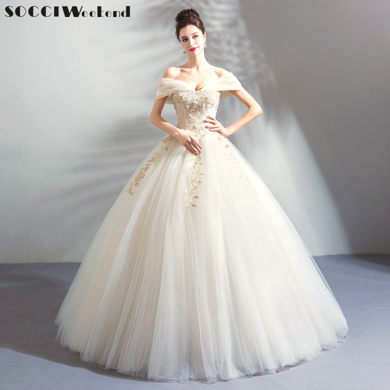 Retro Wedding Dresses.Us 97 56 35 Off Gorgeous Wedding Dress With Lace Vestido De Novia Princesa Vintage Wedding Dresses Real Image Bridal Gown 2019 Appliques Beaded In