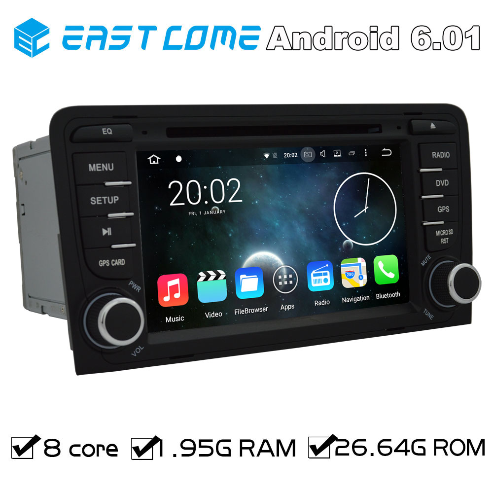 Pure Android 6.01 Car DVD For AUDI A3 2003 2004 2005 206 2007 2008 2009 2010 2011 R3 RS3 With Octa core Bluetooth GPS Radio