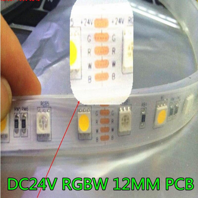 DC24V RGBW vodio traka svjetla 5050 SMD 12mm PCB 5M 60leds / m vodio - LED Rasvjeta
