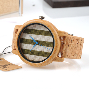 Image 3 - BOBO BIRD WA29 Wooden Watch Blue Indexes White Green Clothes Constitute Dial Nice Women Bamboo Watches