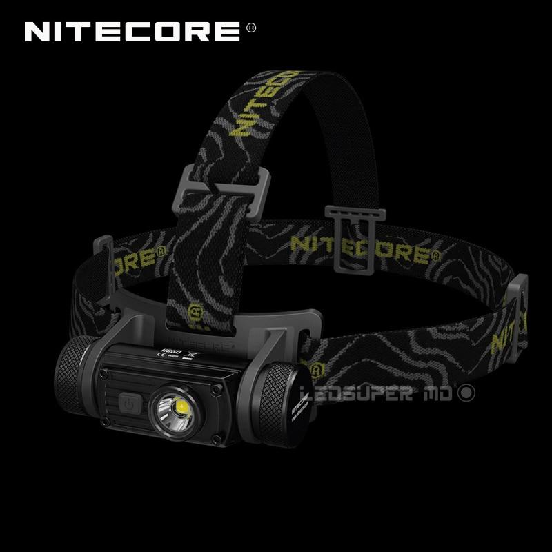 Superventas Nitecore HC60 1000 Lúmenes CREE XM-L2 U2 LED Faro Recargable con 3400 mAh 18650 de La Batería USB