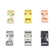 6pcs 10mm Mix 6 Colors Metal Release Buckles Clasps For Paracord Backpack Webbing Bracelets