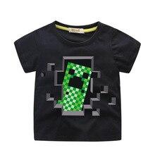 1c0577105 Nowy rok chłopca 3D cartoon Minecraft roblox T shirt dziewczyny Tee topy  ubrania dla dzieci ubrania