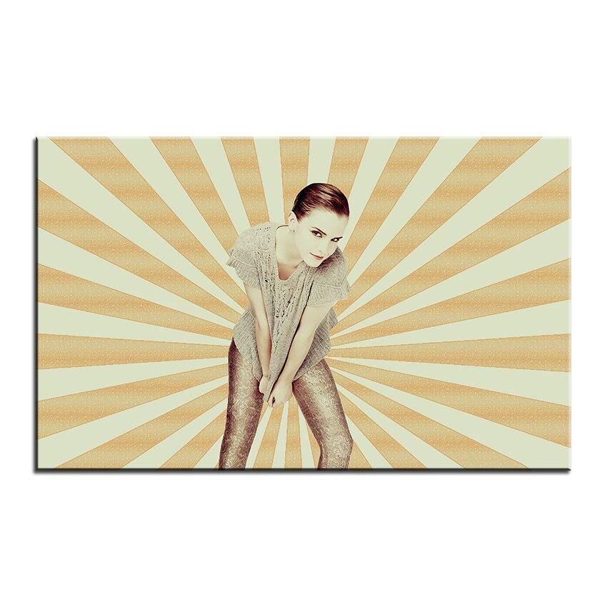 Large size Printing Oil Painting emma watson fashion Wall painting ...