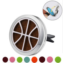 Footbal Stainless Steel Car Air Freshener Perfume Essential Oil Diffuser Locket Random Send 1pcs Oil Pads Gift Girl Jewelry(China)