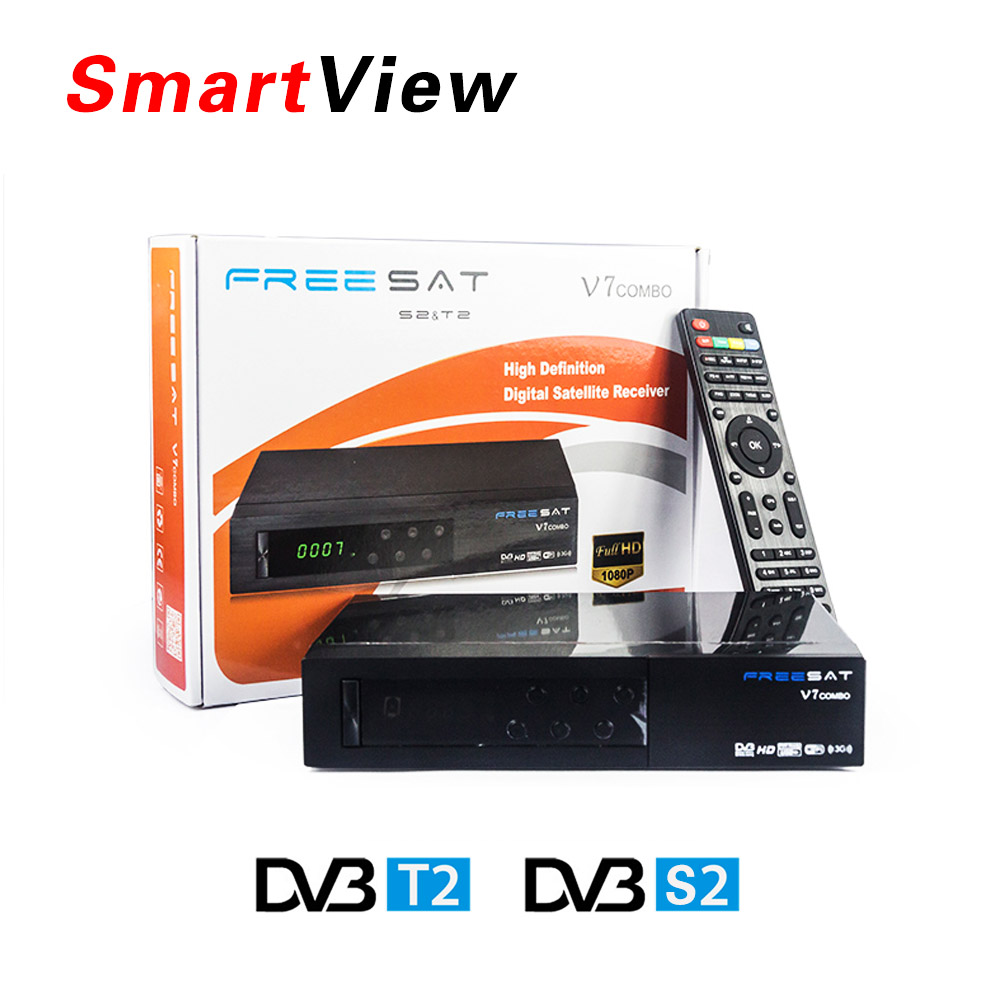 [Genuine] Freesat V7 Combo HD Satellite Receiver DVB S2 + DVB T2 Combo Receiver Support PowerVu Biss Key Cccam Newcam Youtube freesat v7 combo dvb s2 dvb t2 receptor with 1year europe cccam cline satellite receiver support powervu biss key newcam