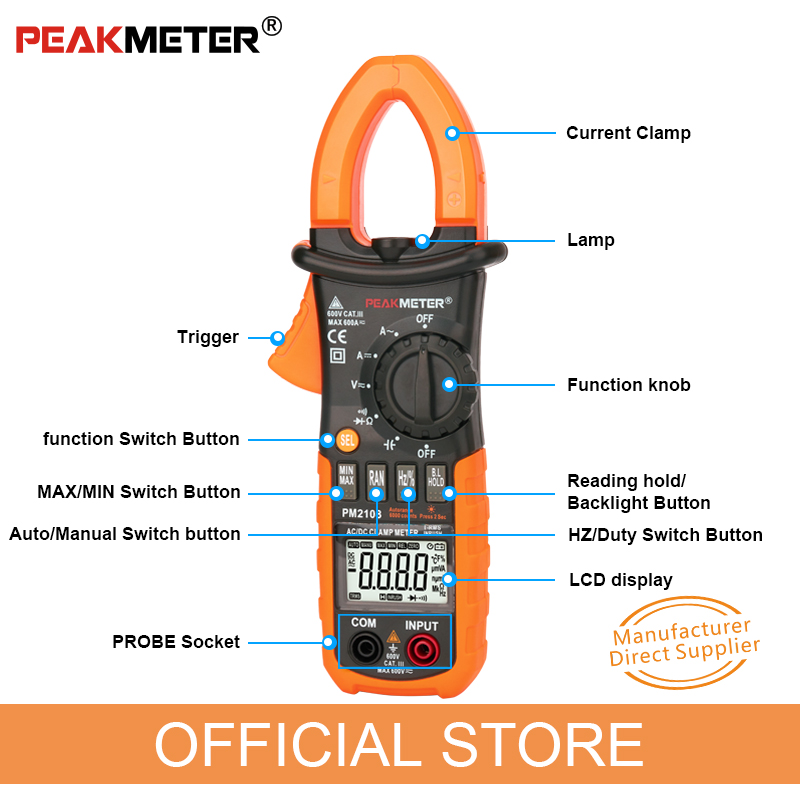 """""""PEAKMETER PM2108 6600"""" skaičiuoja kintamąjį DC DC - Matavimo prietaisai - Nuotrauka 4"""