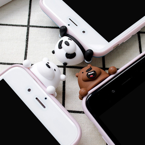 3D Cute Cartoon We Bare Bears brothers funny toys soft phone case for iphone 5 5s 6 6s 7 8 plus 10 X XR XS MAX cover cases coque Karachi