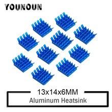 цена на 10PCS YOUNUON Bule Aluminum Heatsink PC VGA Card Xbox360 PS DDR RAM Memory Heat Sink Cooling Cooler