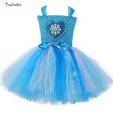 Little Girls Beading Tutu Dress Princess Elsa Tulle Party Dresses Pageant Gowns Girls Dress Up Fancy Baby Clothing 1-12 years children girl rainbow tutu dress princess little horse tutu dresses little girls dress up fancy tutus baby clothing christmas
