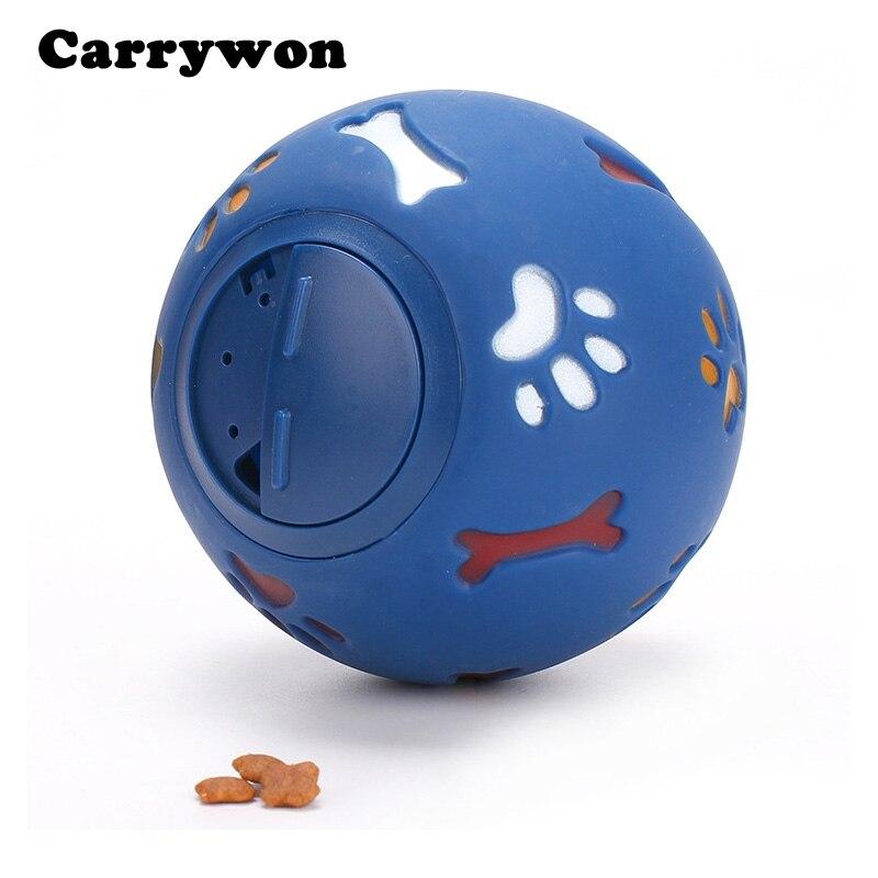 Carrywon Puzzle Animal Ballon D'entraînement Alimentaire Distributeur Durable Chew Pet jouets pour Chiens Fuite Alimentaire Lait de balle En Caoutchouc Balle deux tailles