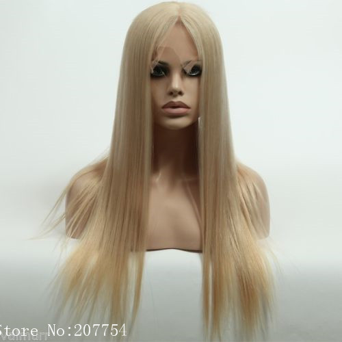 Wowig 5A Russian Silky Straight Long Wigs Blonde Shinny Hair Full Lace Wigs  Glueless Human Remy Hair Wig Baby Hair Swiss Lace on Aliexpress.com  abae129095cc