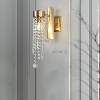 Cobre lâmpada de Parede LEVOU Lâmpada Loft Nordic Decoração de Parede de Luxo Sala de estar Quarto Estudo Luz Simples Luz Luminárias Lâmpadas de Parede de Fundo
