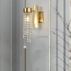 Nordic miedzi kinkiet led loftowe Decor luksusowy salon ściany światło badania sypialnia proste oprawy oświetleniowe tle kinkiety|Wewnętrzne kinkiety LED|   -