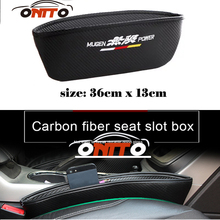 For H-RV Vezel Odyssey City Jazz Mugen power Logo car style Catch Catcher Seat Slit Gap Pocket Storage Glove Organizer Slot Box