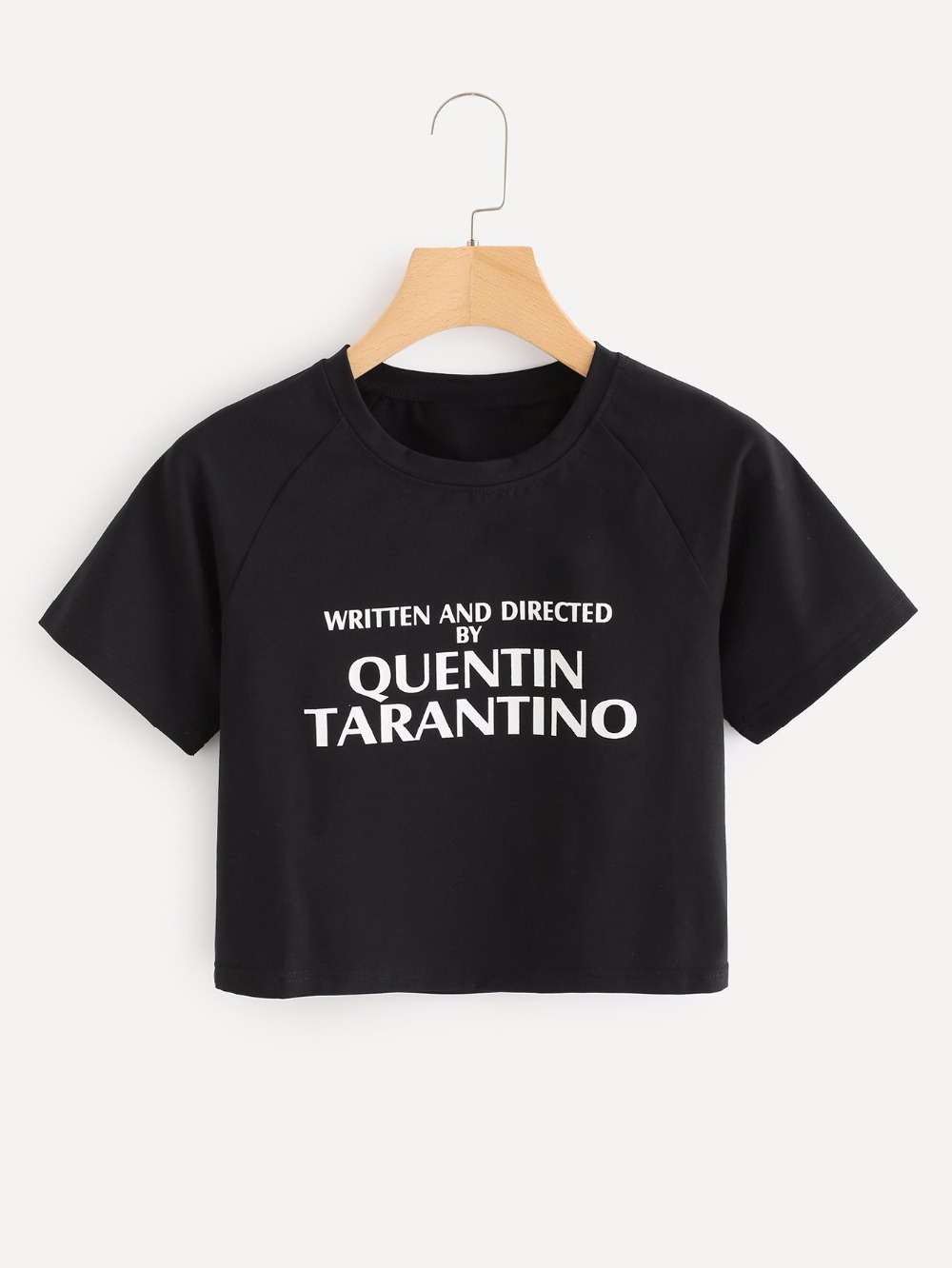 c2168c510 WRITTEN AND DIRECTED BY QUENTIN TARANTINO CROP TOPS slogan short tees 90s  women fashion cotton aesthetic