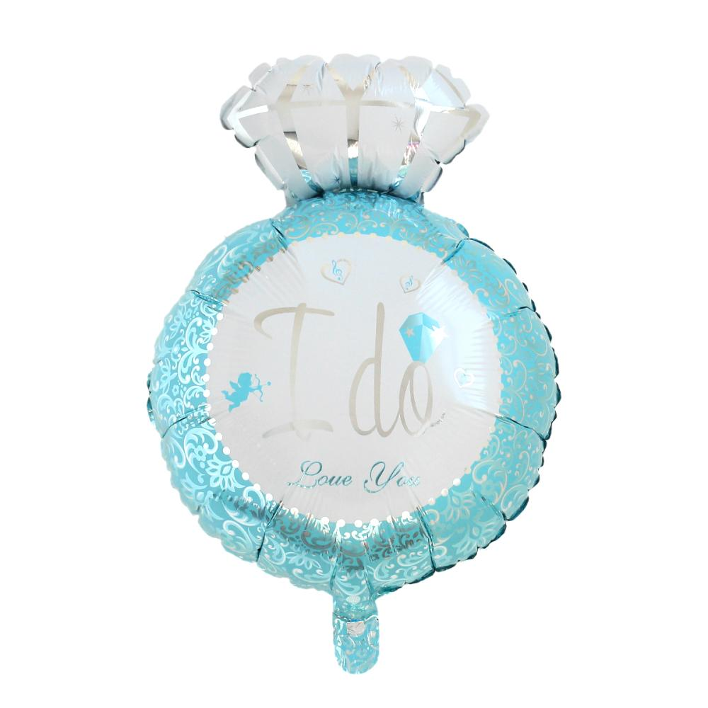 Aluminium Foil Balloon Party Decorations Finger Ring Blue Angel