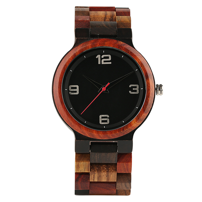 Natural Colorful Wood Strap Men Watches Full Wooden Father's Day Gift Simple Analog Women Quartz Wrist Watch Relogio Masculino new fashion wooden bamboo wrist watches wood casual quartz watch men women relogio masculino gift free shipping