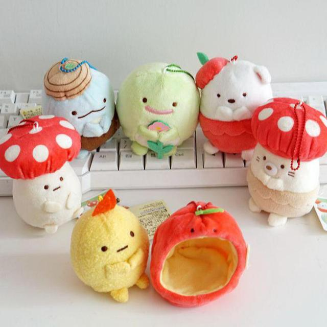 751aec53cb35 US $6.23  Kawaii Japanese Sumikko Corner San X Doll Corner Bio Mushroom  Handheld Biological Animal Plush Toy Doll Baby kids Girls Gifts-in Stuffed  & ...