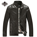 Thin & thick PU Leather Jacket Men Big Size Male Leather Jackets Fashion Motorcycle Jackets & Coats Stand Collar Brand Clothing