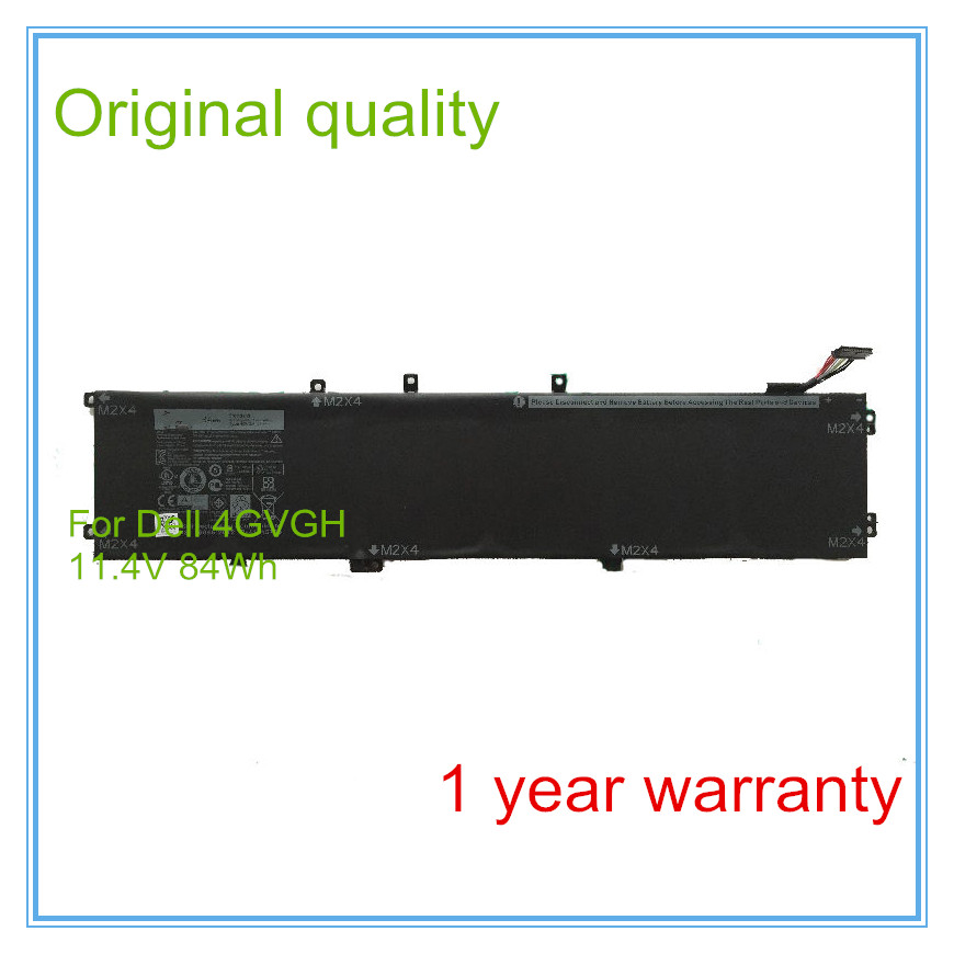 Original New 84Wh Genu 4GVGH 1P6KD Battery for  5510 XPS 15 9550 serie akku 11 4v 84wh new original laptop battery for dell xps 15 9550 d1828t 1p6kd t453x 4gvgh precision 5510 xps15 9550 xps 15