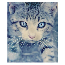 Diy diamond painting cross stitch kit Diamond embroidery cute blue eye cat 3D square Handmade mosaic full drill rhinestone paste