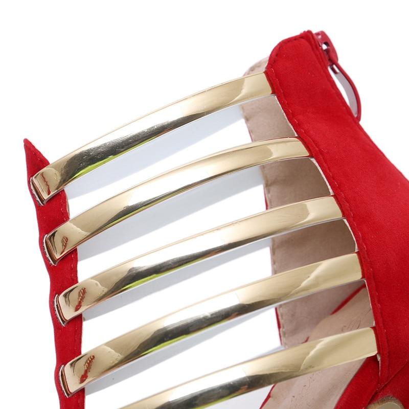 En Du 2018 Paillettes Noir Talons Métal New forme Black Stiletto Style Parti Sandales Femmes Chaussures Dames Plate Creux white Rouge Hauts Summer Sexy Pompes T0zwT