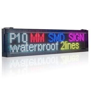 Image 2 - P10 Outdoor RGB Impermeabile di Colore Completo Display A LED di Marca Wifi + USB Programmabile di Scrolling informazioni SMD LED Segno