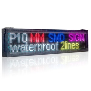 Image 2 - P10 наружный водонепроницаемый RGB полноцветный светодиодный дисплей бренда Wifi + USB Программируемый прокручивающийся информационный SMD СВЕТОДИОДНЫЙ знак