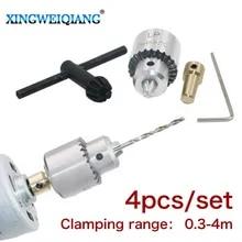 shunbang yuan Micro Motor de Taladro mordazas de sujeci/ón 0.3-4mm TJO Taper Montada portabrocas Portabrocas 3,17 mm Lat/ón Mini el/éctrico del Eje del Motor