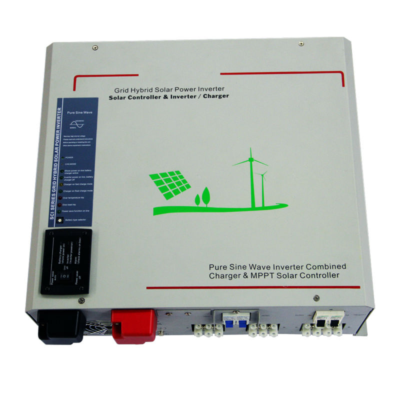 DECEN@12V 3000W Peak Power 6000W Pure Sine Wave Solar Off grid Inverter Built in 40A MPPT Controller, LED