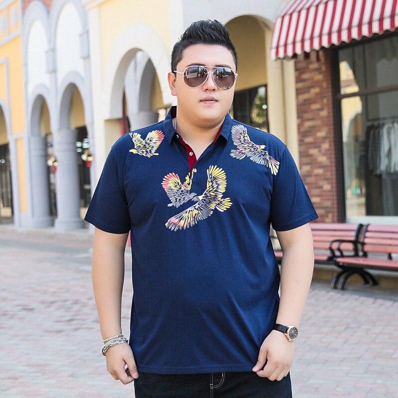 2018 nouvelle grande taille 9XL 8XL 7XL 6XL 5XL mode hommes d'été marque coton dragon ball revers T manches courtes ralphmen t-shirt