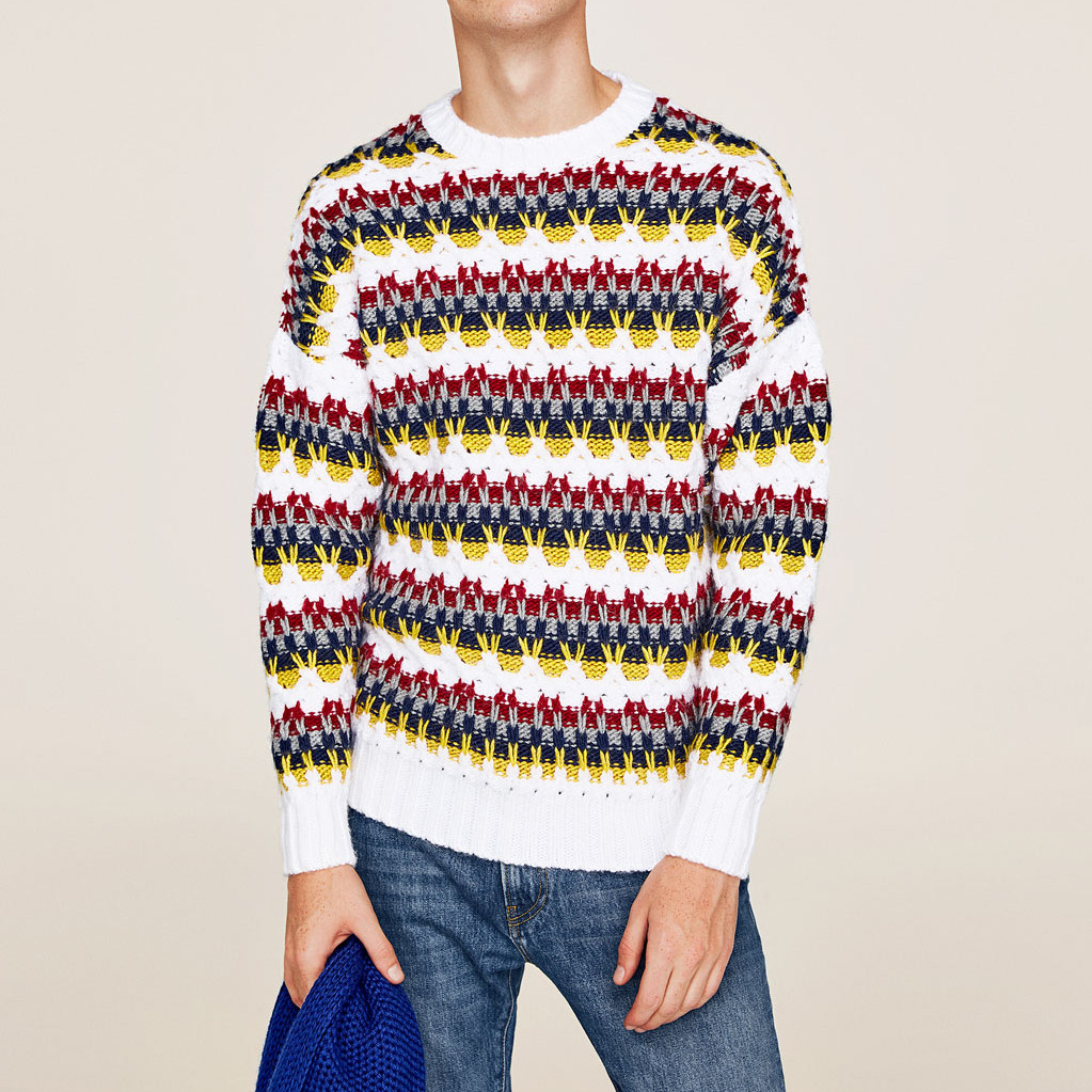 2018 Women Runway Men Fashion cashmere Sweater and Pullovers Winter Christmas Pull Knitted Striped Jumper robe pull femme hiver