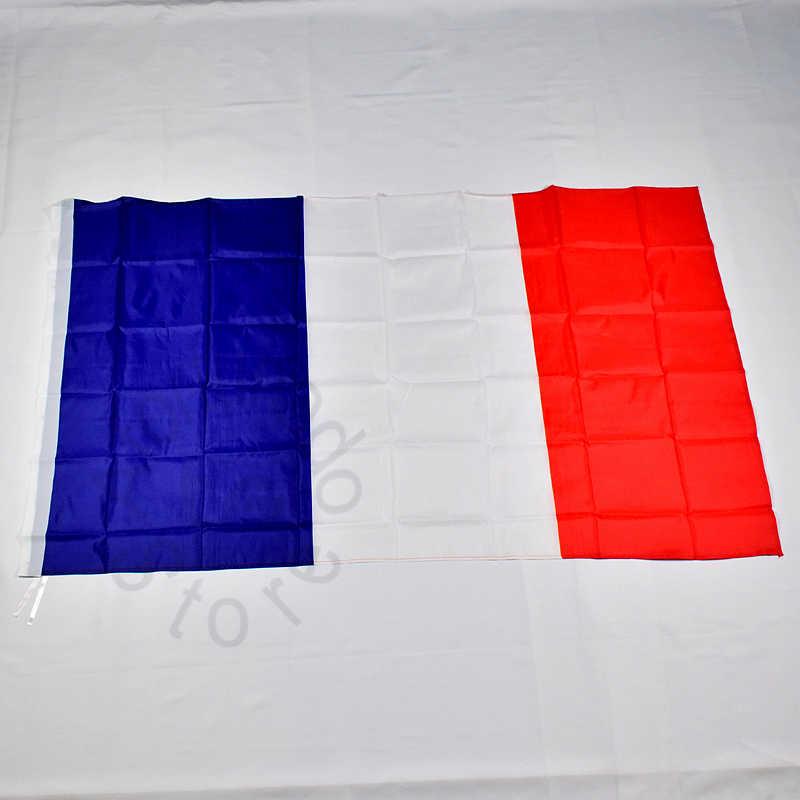 Фото Франция французский 90*150 флаг баннер Бесплатная доставка 3x5 футов висящий