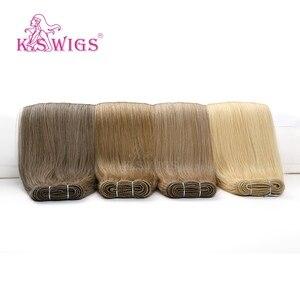 Image 1 - K.S WIGS 24 100 กรัม/ชิ้นตรง Remy Weft Human Hair Extensions Double วาดมนุษย์ผมสานการรวมกลุ่ม