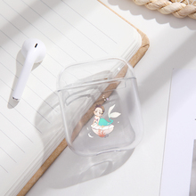 Mermaid girl Case For Apple airpods case Cover Cute Wireless Bluetooth Earphone Case For Airpods Headphone Protective Cover цена и фото