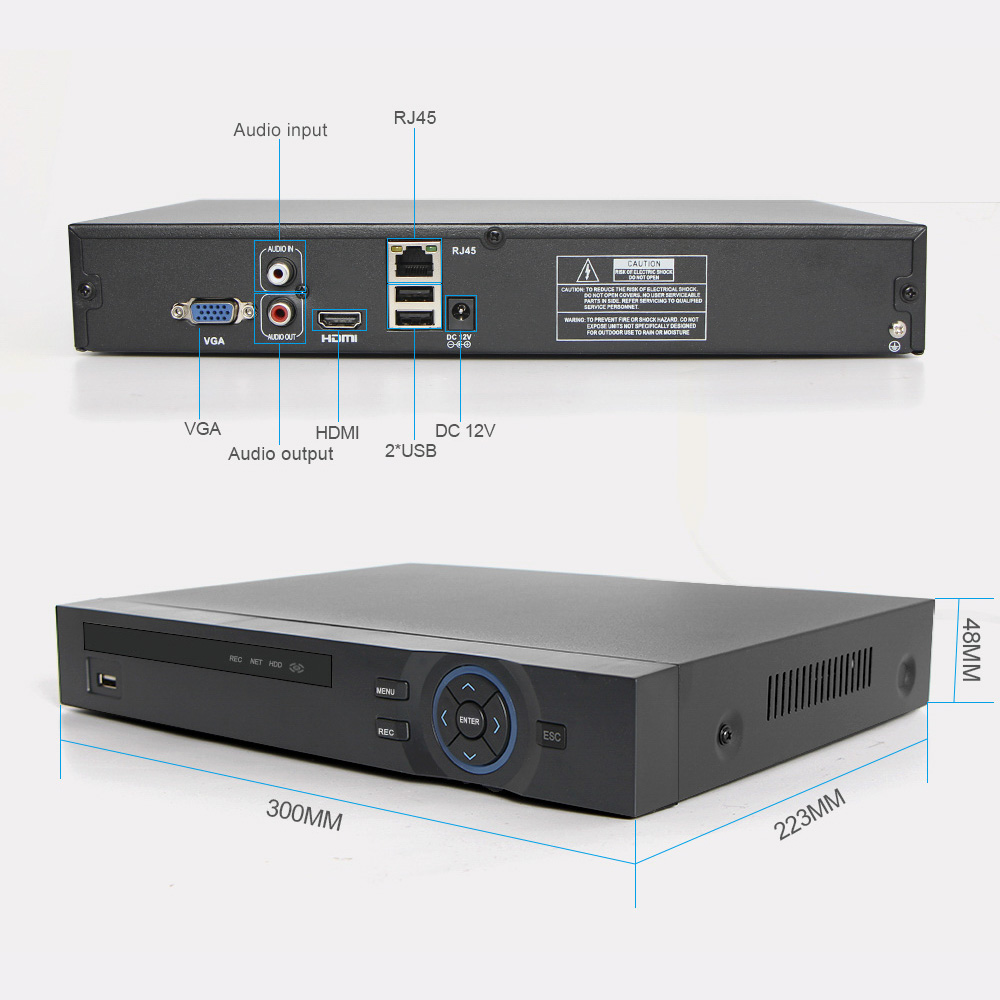 Image 4 - H.265 CCTV NVR 32CH 1080P / 25Ch 5MP / 8Ch 8MP NVR ONVIF P2P Cloud Support 2HDD MAX 8TB 32Ch Security NVR Network Video Recorder-in Surveillance Video Recorder from Security & Protection