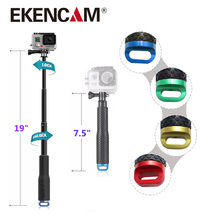 EKENCAM Selfie Stick은 Gopro Monopod를 확장합니다 19-98cm Gopro Hero를위한 휴대용 셀프 스테이크 6 5 4 HERO4 Session EKEN H8R SJCAM SJ5000