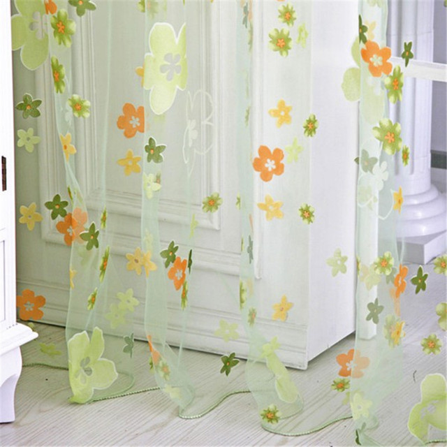 Aliexpress.com : Buy 2017 New Small Floral Colored Curtains ...