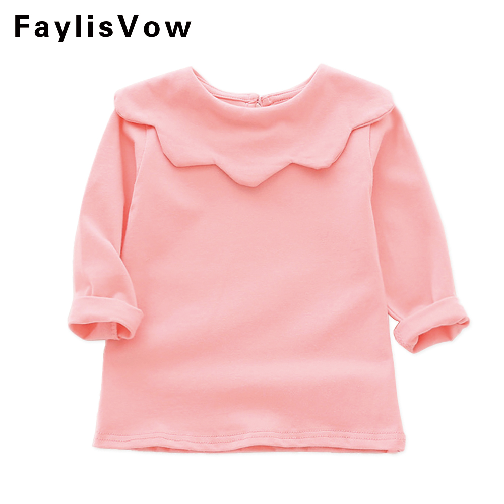 Clearance Baby Cotton T-shirt Kids Long Sleeve T-shirt For Girl Toddler Casual Tops Blouse Cute Newborn Girls Soft Pullover Tees