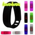 Bowaiwen #0025 пара часы Женские Мужские Резиновые LED Watch Дата Спорт Браслет Наручные Часы