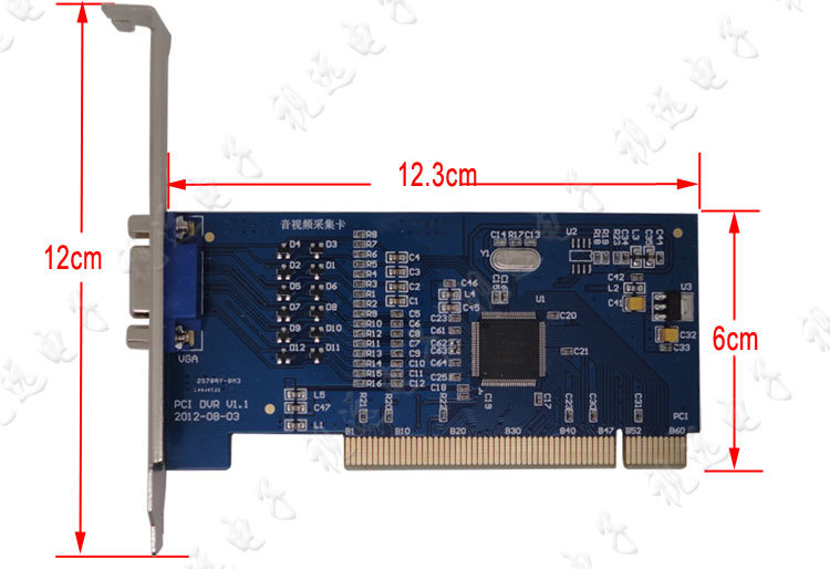 H.264 8CH D1 4CIF Video CCTV DVR Surveillance Capture PCI Card jooan ja mv9216a 16 ch d1 hd video capture card w pci slot bnc dvr card