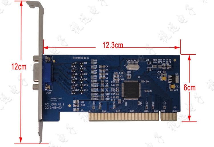 H.264 8CH D1 4CIF Video CCTV DVR Surveillance Capture PCI Card