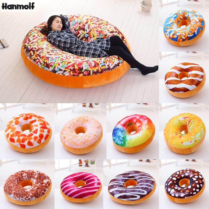 3d Donut Pillow Soft Cosy Seat Back Stuffed Cushion Doughnut Throw Pillow Plush Toy For Home Decor 40cm tiramisu Soft And Antislippery