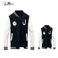 New Spring Family Baseball PU Jacket Coat 2018 Matching Outfits Print Cotton Dad Mom Kids Boys