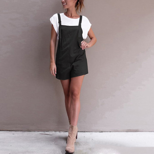 Loose Dungarees Jumpsuit Shorts Pants Trousers Rompers