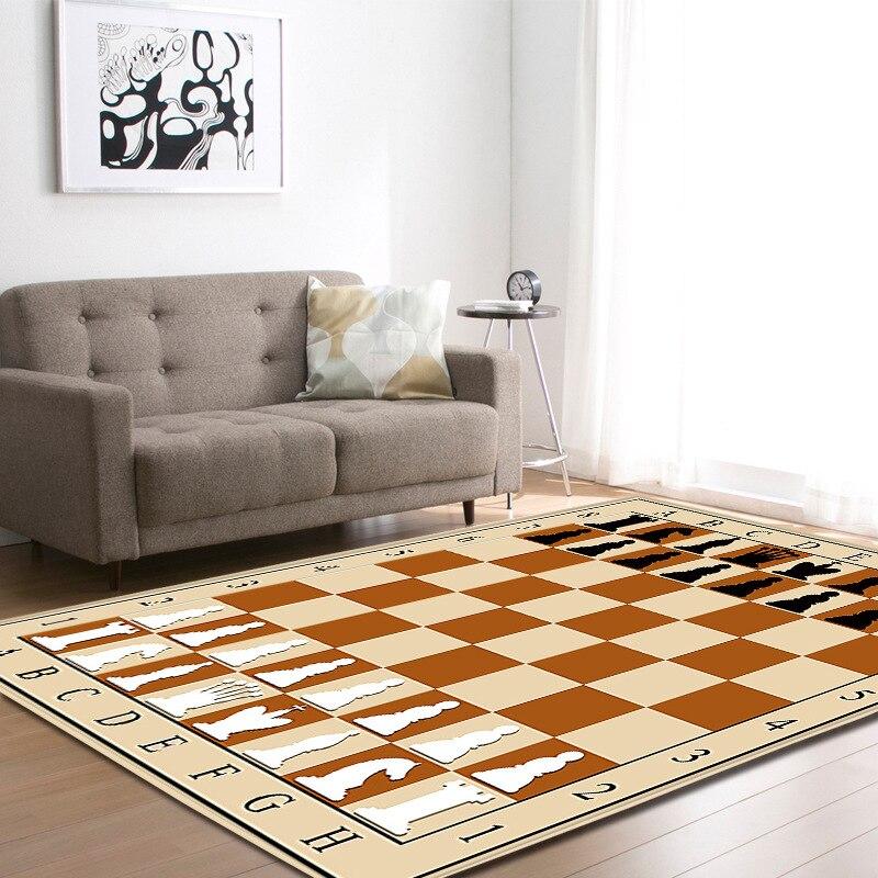 Vintage argent crâne imprimer Floormat tapis anti-dérapant couverture couloir épais enfant jouer tapis Table Pad salon chambre décor à la maison - 4