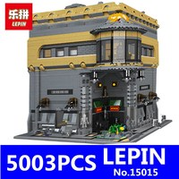 LEPIN 15015 5003pcs 15017 15019 City Creator The Dinosaur Museum Model Street Building Blocks Bricks Toys Kits for Children Gift